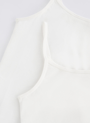 Penti Beyaz Teen Basic Organic 2Li Atlet Beyaz